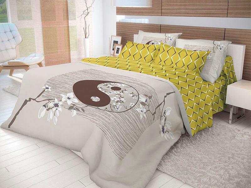Постельное белье Волшебная Ночь Этно Yin Yang Комплект 1.5 спальный Ранфорс 702269