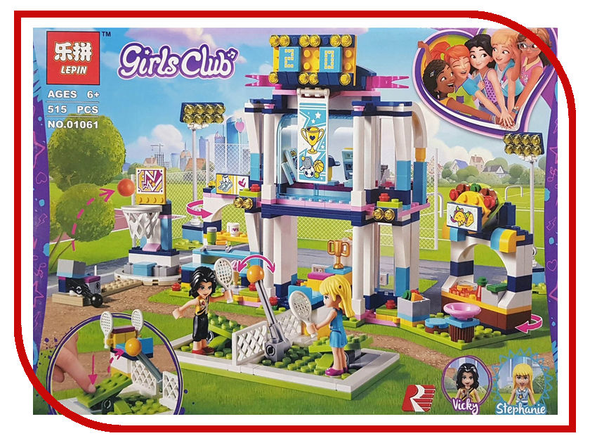 Конструктор Lepin Girls Club Спортивная арена для Стефани 515 дет. 01061 конструктор lepin cities тяжелый бур для горных работ 329 дет 02101