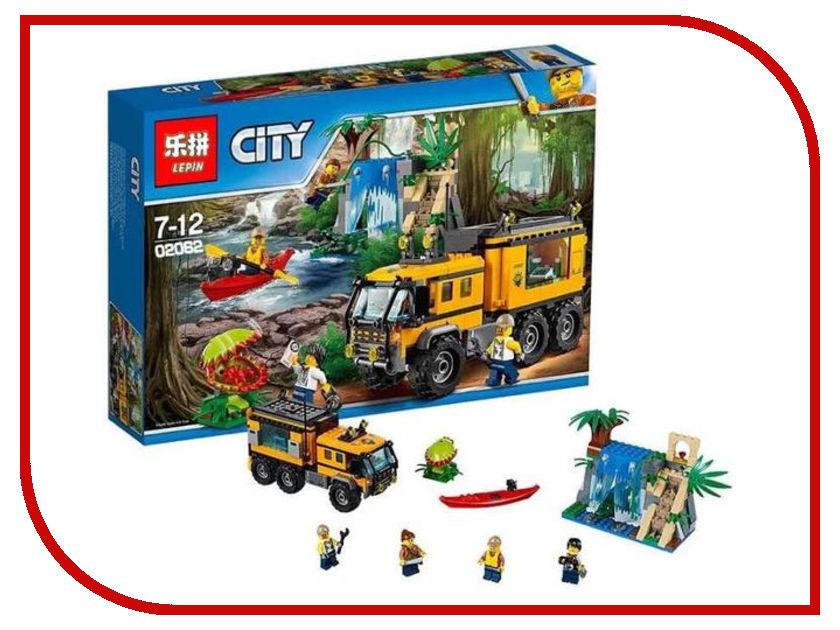 Конструктор Lepin Cities Передвижная лаборатория в джунглях 460 дет. 02062 конструктор lepin cities рыболовный катер 159 дет 02028
