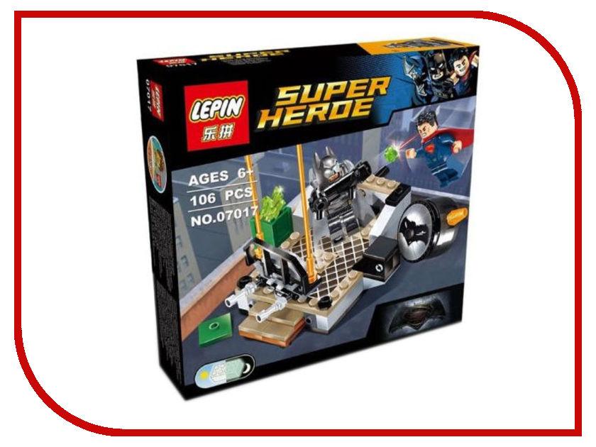 Конструктор Lepin Super Heroe Бэтмен против Супермена: Битва супергероев 106 дет. 07017 футболка классическая printio бэтмен против супермена