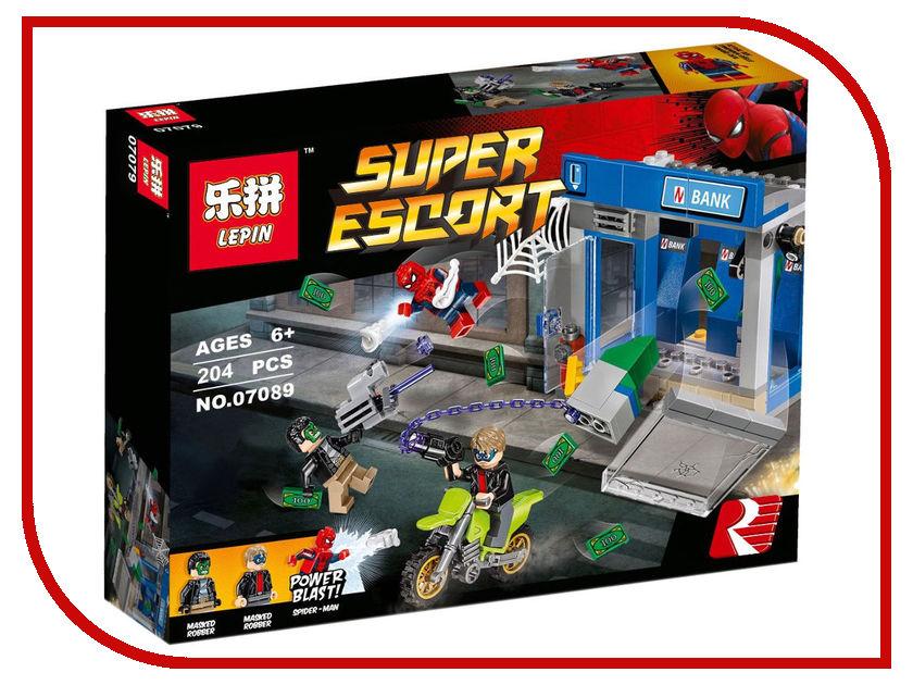 Конструктор Lepin Super Escort Ограбление банкомата 204 дет. 07089 конструктор bela supreme heroes ограбление банкомата 207 дет 10742
