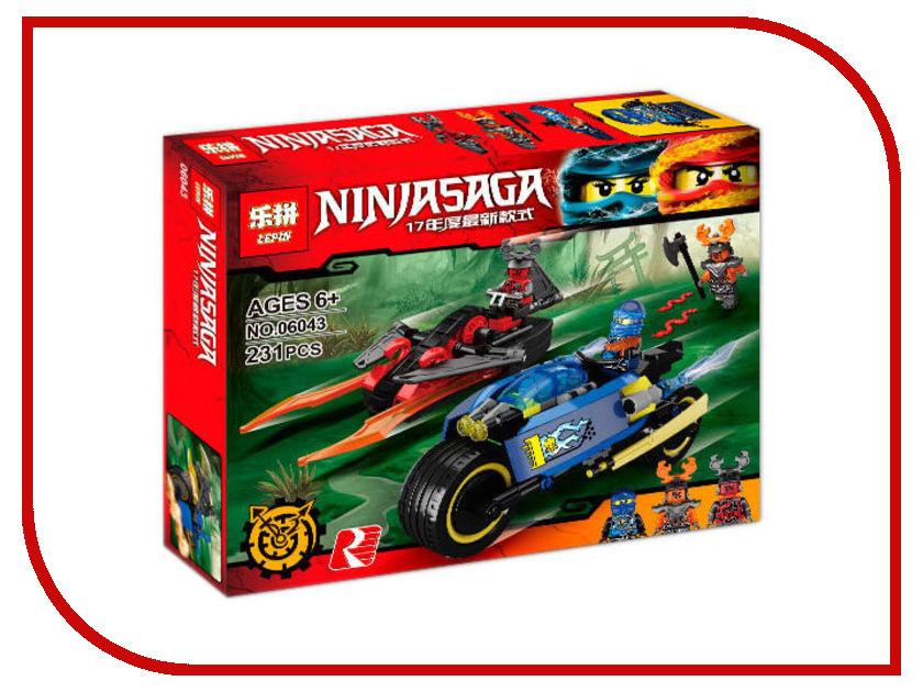 Конструктор Lepin Ninjasaga Пустынная молния 231 дет. 06043 конструктор lepin fairytale сказочный замок спящей красавицы 360 дет 25012