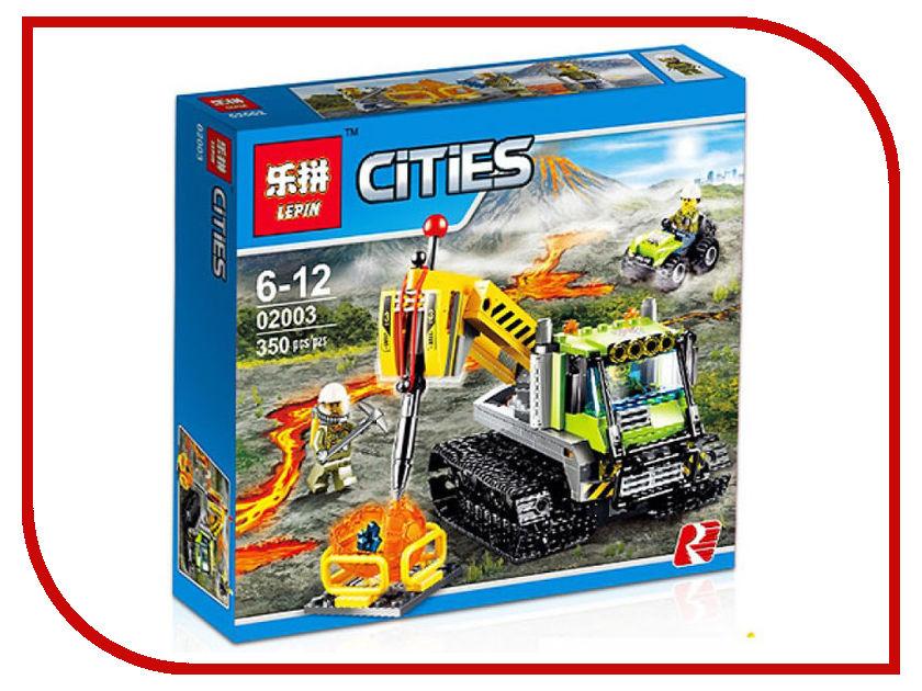 Конструктор Lepin Cities Вездеход исследователей вулканов 350 дет. 02003 конструктор lepin cities рыболовный катер 159 дет 02028
