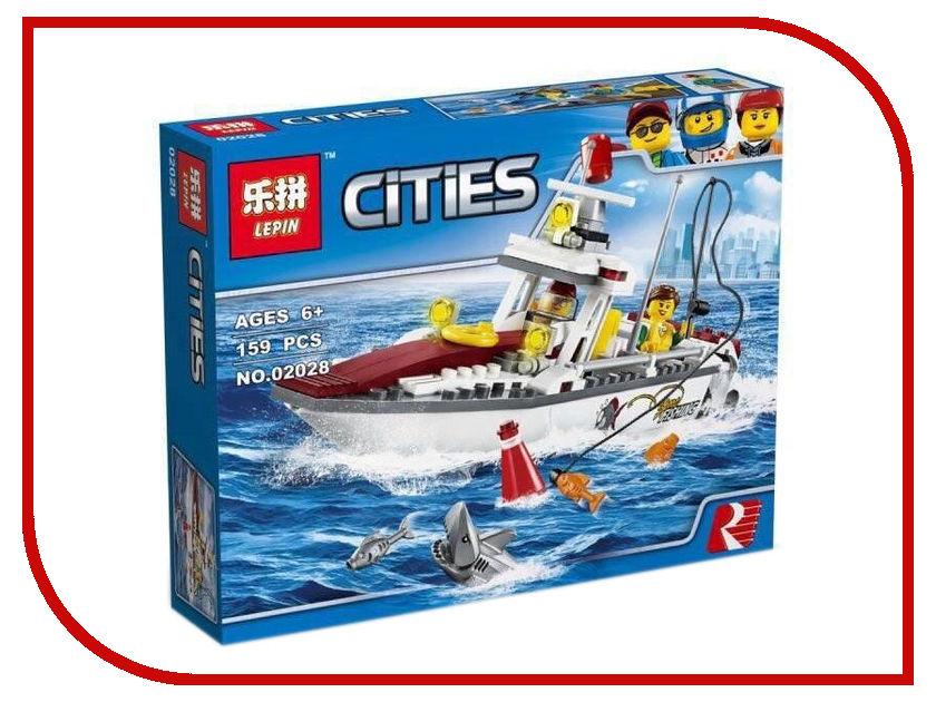 Конструктор Lepin Cities Рыболовный катер 159 дет. 02028 конструктор lepin спортивный лагерь дом на дереве 784 дет 01047