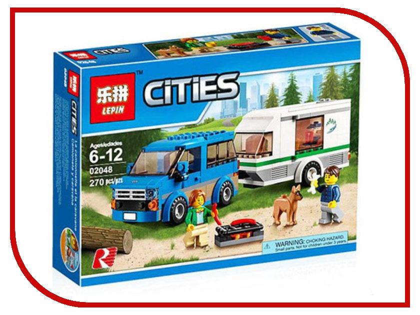 Конструктор Lepin City Фургон и дом на колёсах 270 дет. 02048