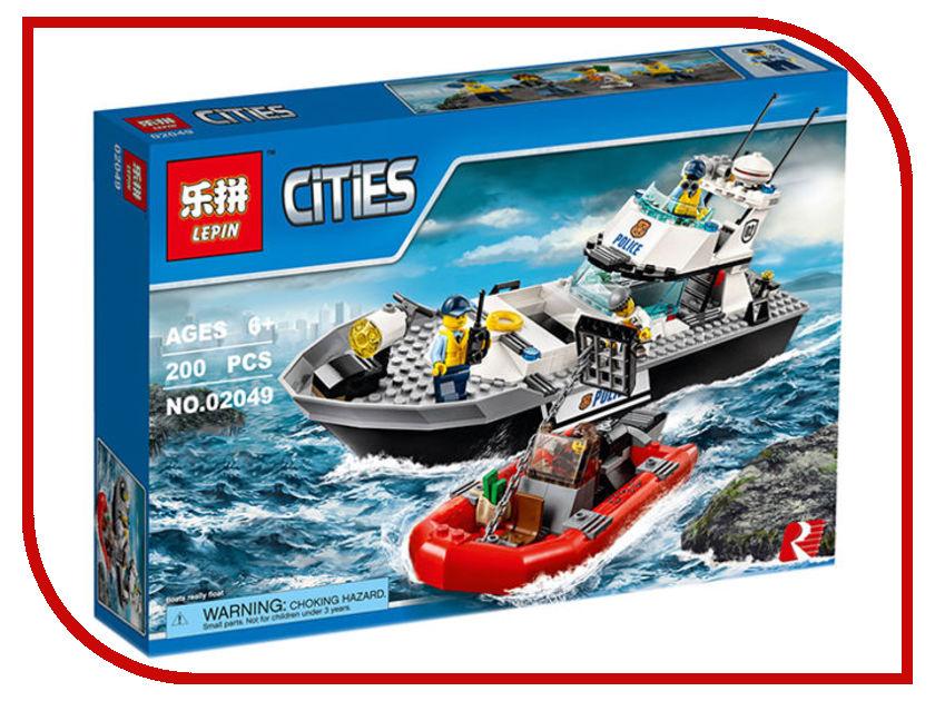 Конструктор Lepin Cities Полицейский патрульный катер 200 дет. 02049 конструктор lepin cities рыболовный катер 159 дет 02028