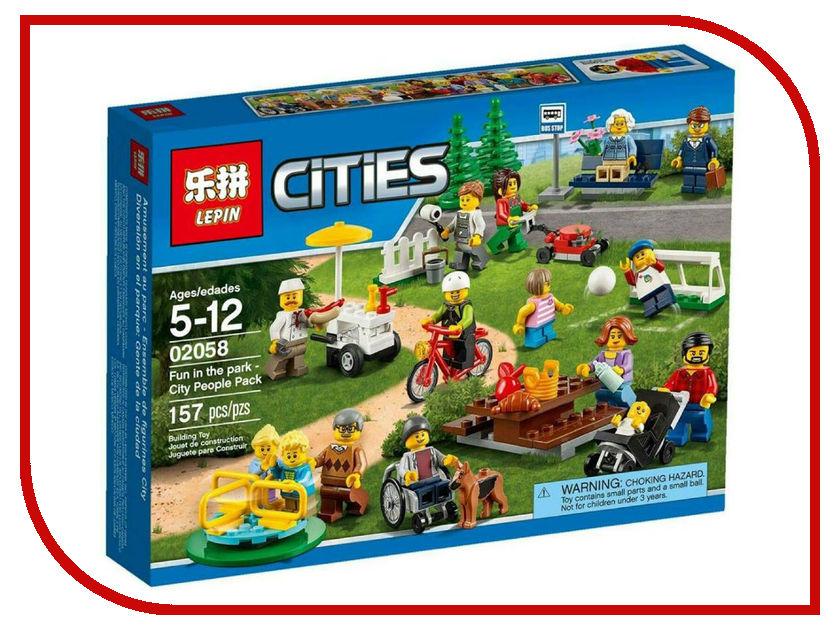 Конструктор Lepin Cities Праздник в парке 157 дет. 02058 конструктор lepin cities рыболовный катер 159 дет 02028