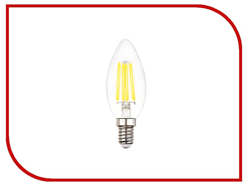 Лампочка Ambrella Filament E14 60W LED C37-F 6W 4200K 4w 6w 8w filament led bulb edison led filament bulb g125 big global light bulb e27 clear glass indoor lighting lamp ac220v
