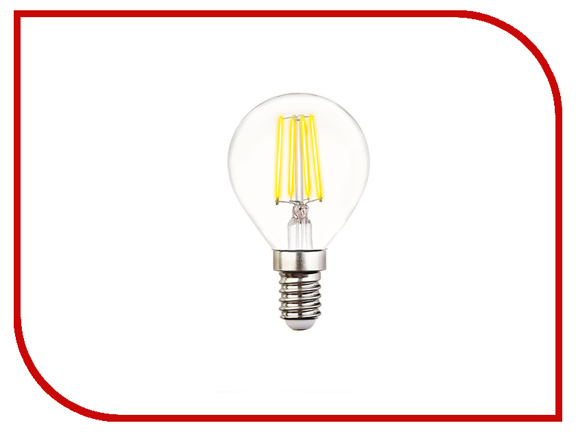Лампочка Ambrella Filament E14 60W LED G45-F 6W 4200K vintage edison bulb led e27 e14 lamp filament light vintage led bulb lamp 220v retro candle light 2w 4w 6w 8w g45 g80 g95 g125