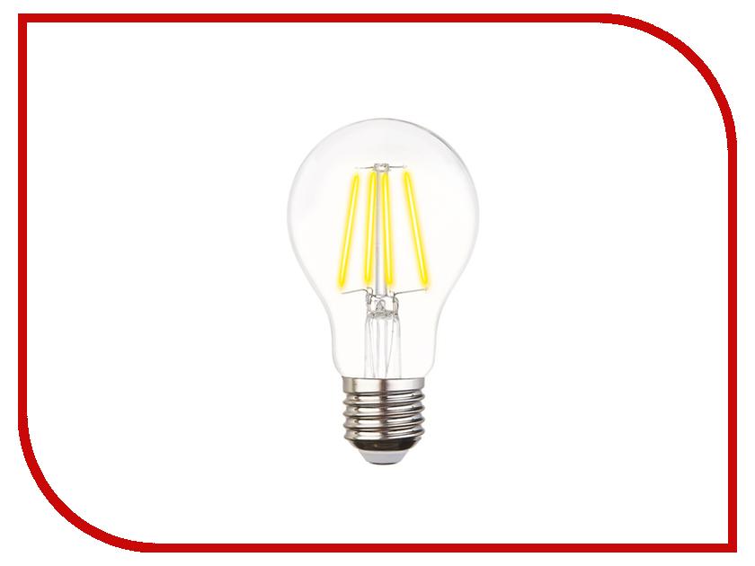 Лампочка Ambrella Filament E27 60W LED A60-F 6W 4200K 205029 4w 6w 8w filament led bulb edison led filament bulb g125 big global light bulb e27 clear glass indoor lighting lamp ac220v