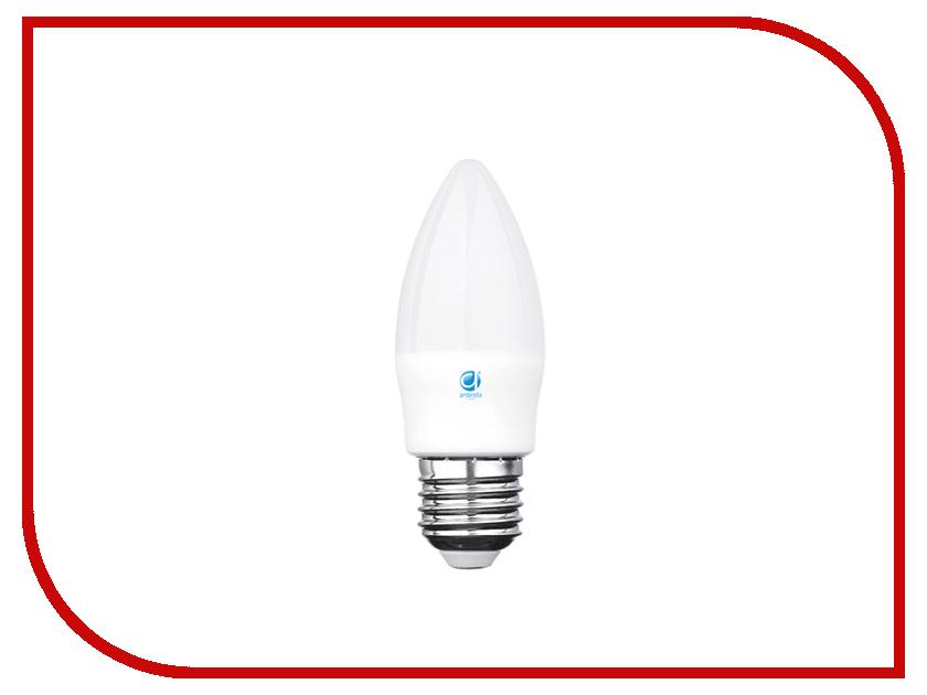 Лампочка Ambrella 75W LED C37-PR 8W E27 3000K 206283 лампочка ecowatt шарик нитевидный loft g125 e27 75w 2000k warm white
