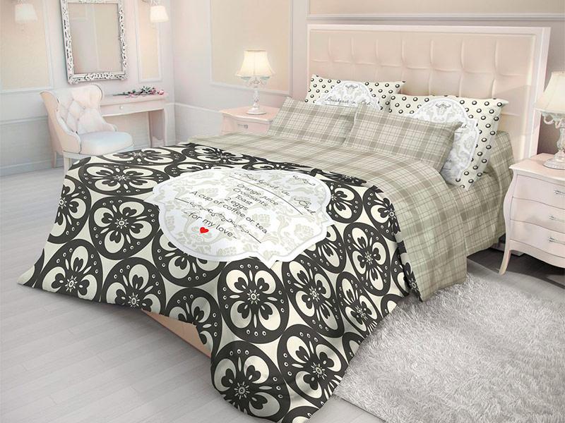 Постельное белье Волшебная ночь Версаль Breakfast Комплект 2 спальный Ранфорс 702116