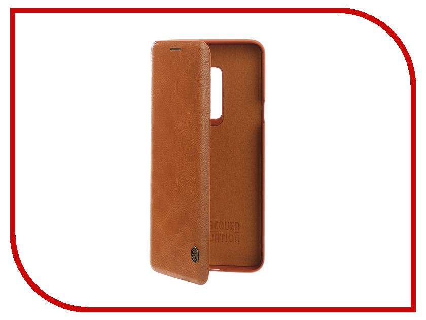 Аксессуар Чехол для Samsung Galaxy S9 Plus Nillkin Qin Leather Brown Q-LC SAM-GALAXY-S9+ женское платье sam s tree 2517014 2015