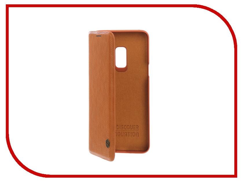 Аксессуар Чехол для Samsung Galaxy S9 Nillkin Qin Leather Brown Q-LC SAM-GALAXY-S9 женское платье sam s tree 2517014 2015
