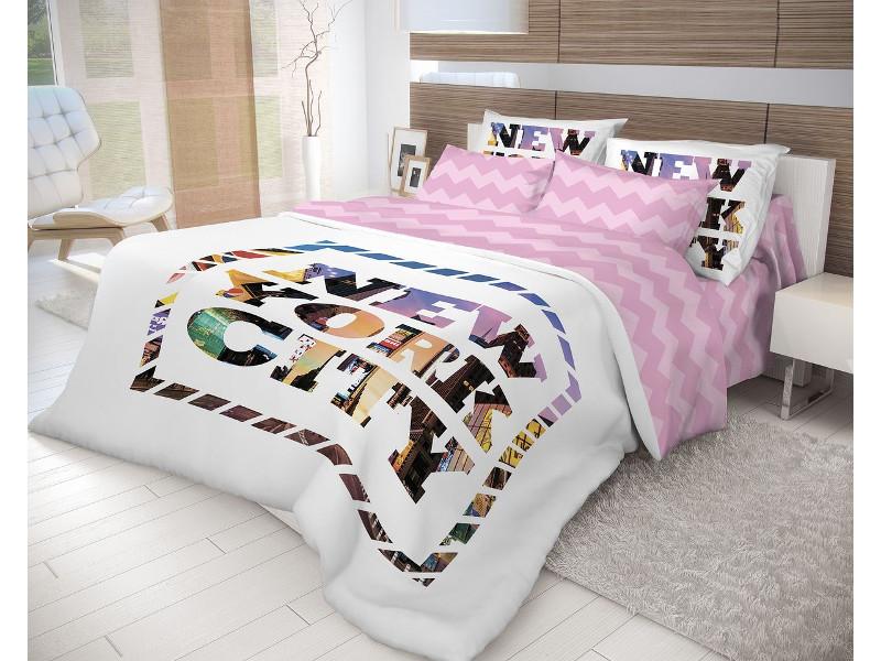 Постельное белье Волшебная ночь Лофт New York Комплект 2 спальный Ранфорс 710610