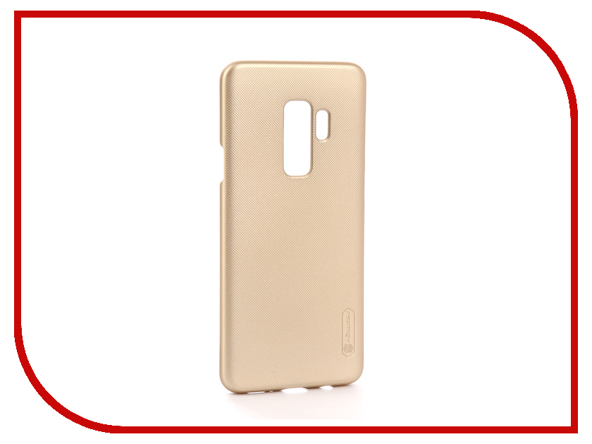 Аксессуар Чехол Samsung Galaxy S9 Plus Nillkin Super Frosted Shield Gold F-HC SAM-GALAXY S9+ чехол клип кейс nillkin super frosted shield для samsung galaxy a5 2017 черный