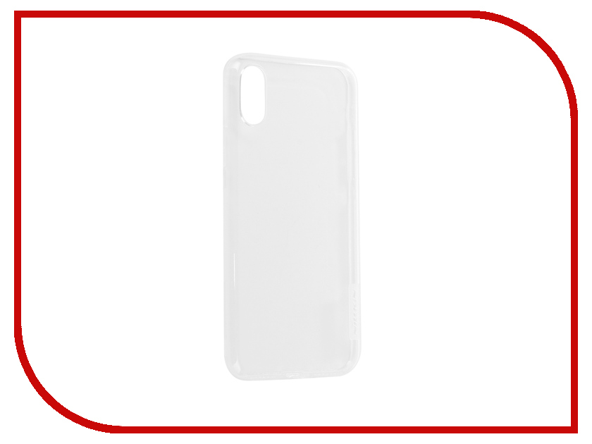 Аксессуар Чехол Nillkin TPU Nature Case для APPLE iPhone X White N-TPU AP-IPHONE X чехлы для телефонов nillkin бампер nillkin barde metal case для apple iphone 7