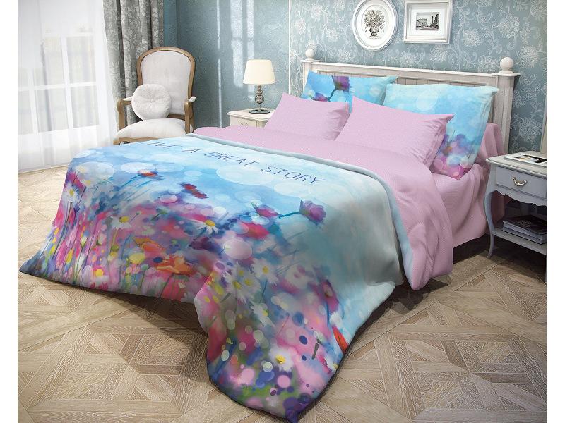 Постельное белье Волшебная ночь Прованс Memory Комплект 2 спальный Ранфорс 706789