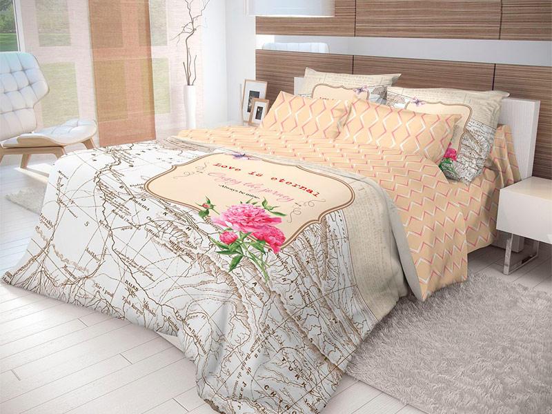 Постельное белье Волшебная ночь Лофт Map Комплект Евро Ранфорс 703882
