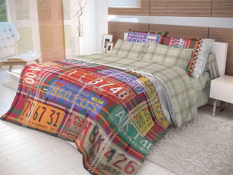 Постельное белье Волшебная ночь Лофт Nevada Комплект Евро Ранфорс 702163 цена