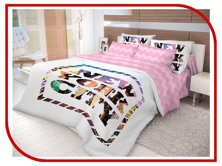 Постельное белье Волшебная ночь Лофт New York Комплект Евро Ранфорс 702185 постельное белье волшебная ночь комплект постельного белья волшебная ночь семейный new york