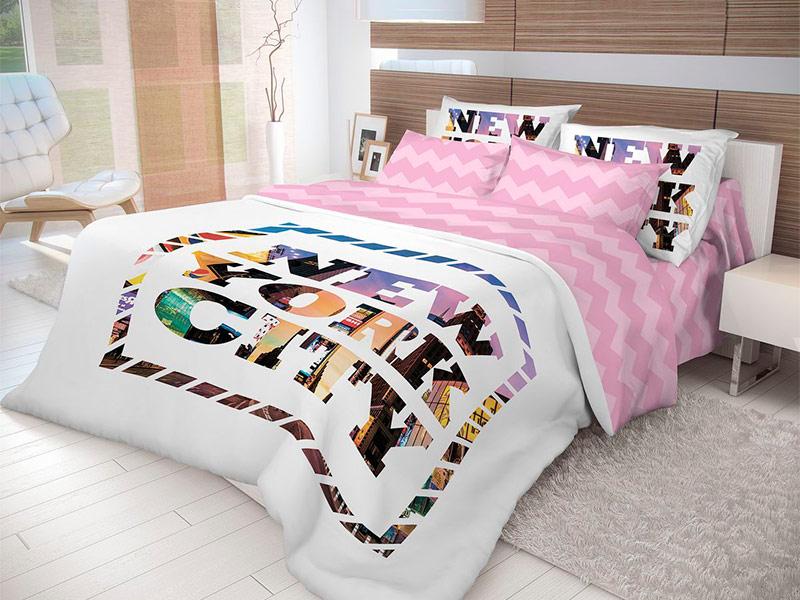 Постельное белье Волшебная ночь Лофт New York Комплект Евро Ранфорс 702185