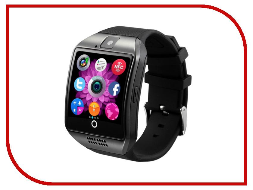 Умные часы ZDK Q18 Black умные часы apple watch series 3 38mm grey space with black sport band mqkv2ru a