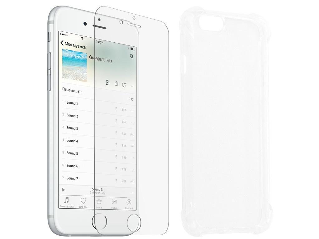 Аксессуар Защитное стекло + накладка Innovation для APPLE iPhone 6 Silicone Transparent 10008