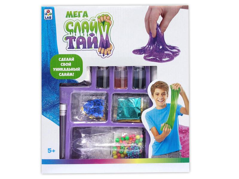 Набор для творчества 1Toy Слайм Тайм Мега набор Сделай слайм в большой коробке с окном Т12033