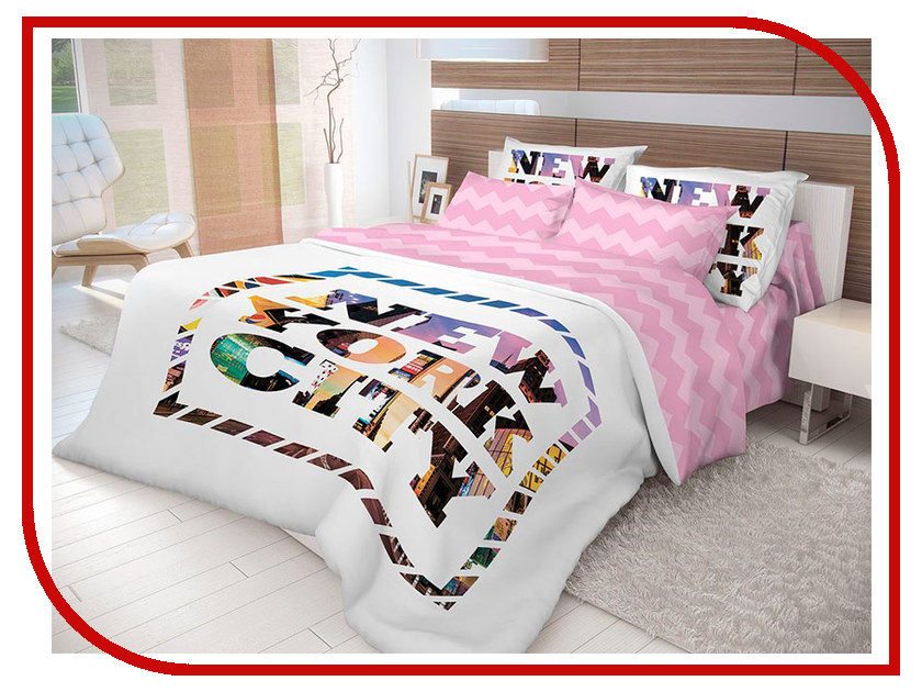 Постельное белье Волшебная ночь Лофт New York Комплект семейный Ранфорс 702186 постельное белье волшебная ночь комплект постельного белья волшебная ночь семейный new york