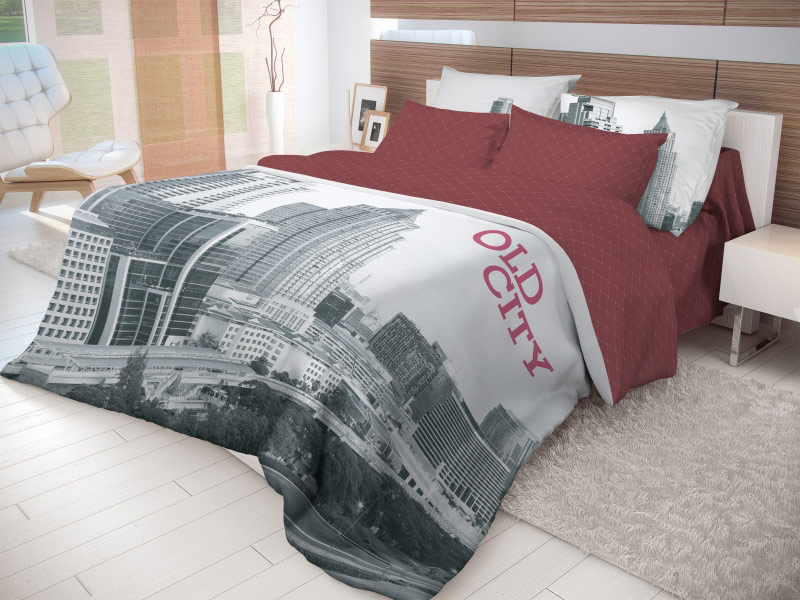 Постельное белье Волшебная ночь Лофт Old City Комплект семейный Ранфорс 702193
