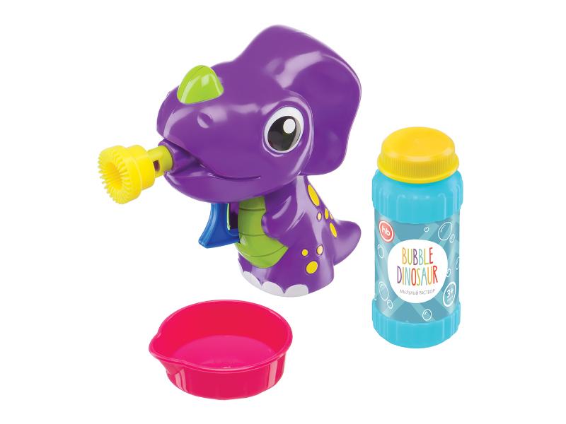 Игрушка Happy Baby Bubble Dinosaur набор для мыльных пузырей 330407 boys baby dinosaur romper