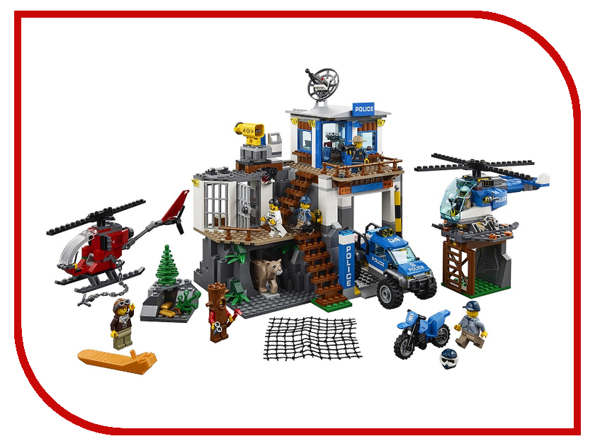 Фото Конструктор Lego City Полицейский участок в горах 60174