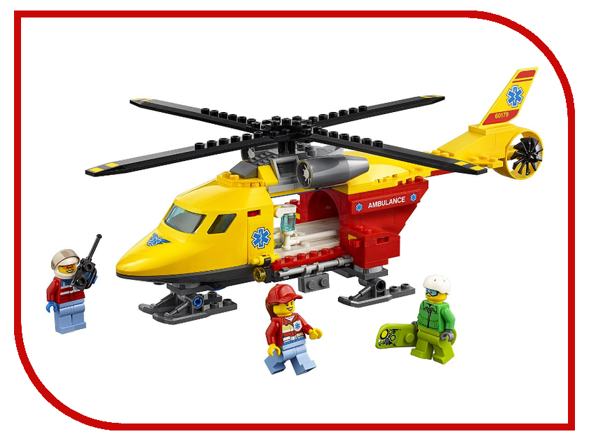 Конструктор Lego City Вертолёт скорой помощи 60179