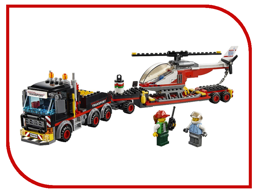 Конструктор Lego City Перевозчик вертолета 60183