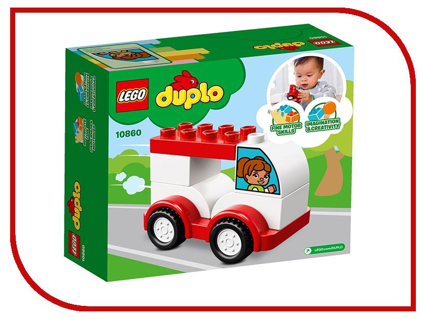 Конструктор Lego Duplo Мой первый гоночный автомобиль 10860 конструктор lego duplo мой первый поезд 10507