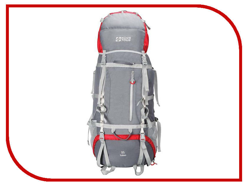 Рюкзак Nova Tour Юкон 95 V2 Grey-Red 11203-051-00