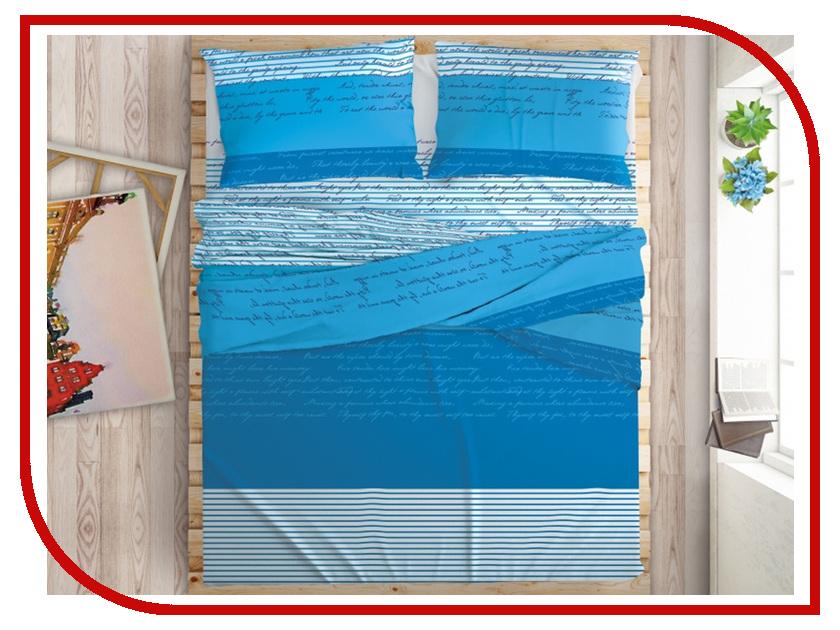 Постельное белье LOVE ME Love Latter Комплект 1.5 спальный Перкаль 711055 комплект постельного белья love me евро перкаль tropic 198862 711079