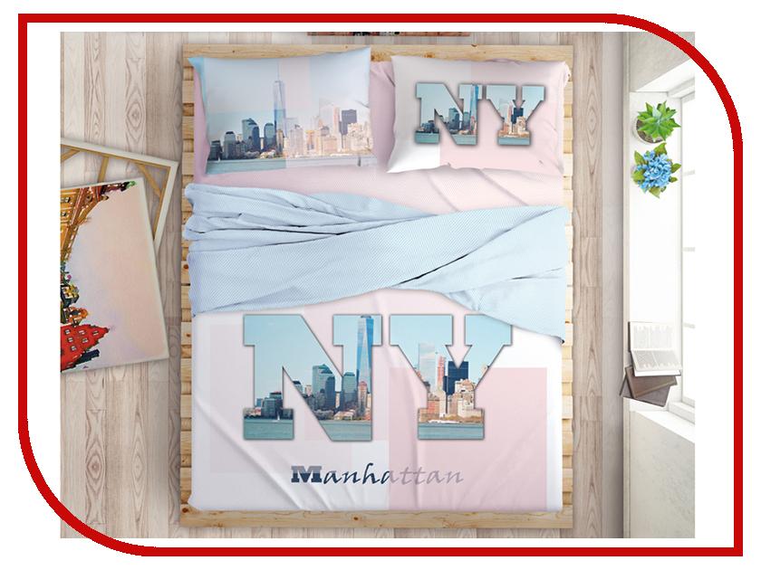 Постельное белье LOVE ME Manhattan Dreams Комплект 1.5 спальный Перкаль 711044