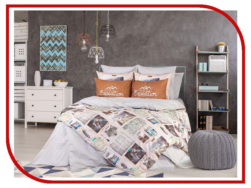 Постельное белье LOVE ME Traveler Комплект 1.5 спальный Перкаль 711535 комплект постельного белья love me евро перкаль tropic 198862 711079