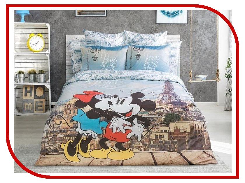 Постельное белье LOVE ME Mickey in Paris Комплект 1.5 спальный Перкаль 711539 monflame футболка take me to paris