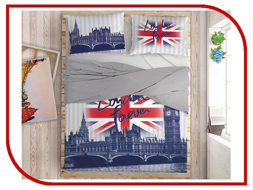 Постельное белье LOVE ME London Комплект 2 спальный Перкаль 711018 комплект постельного белья love me евро перкаль tropic 198862 711079