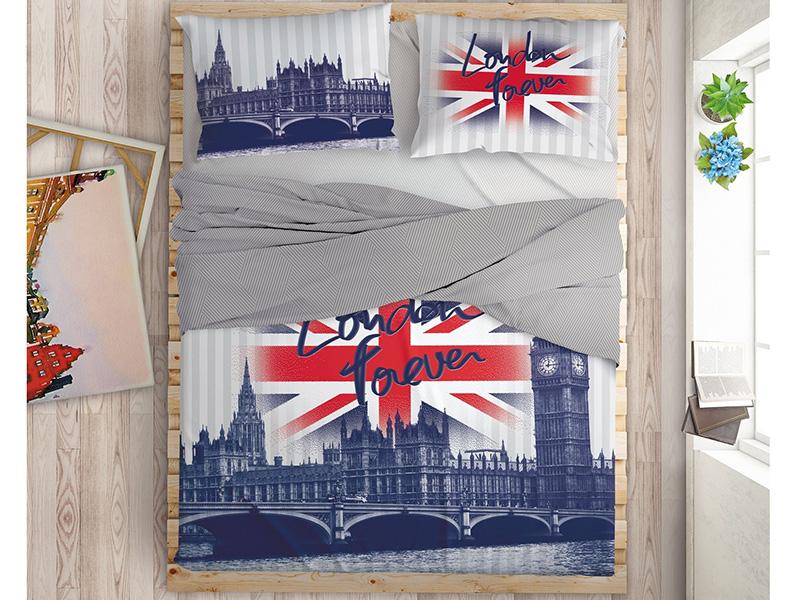 Постельное белье LOVE ME London Комплект 2 спальный Перкаль 711565 постельное белье love me london комплект евро перкаль 711085