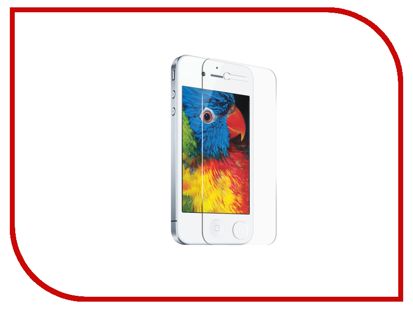 Аксессуар Защитное стекло Ubik для APPLE iPhone 4S аксессуар защитное стекло highscreen fest xl pro luxcase 0 33mm 82179