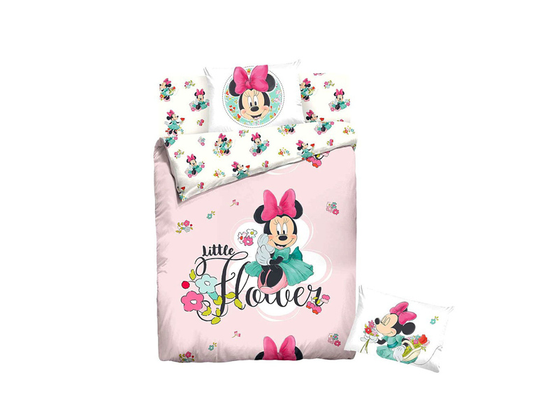 Постельное белье Disney Minnie Little Flower Комплект 1.5 спальный Ранфорс 707496
