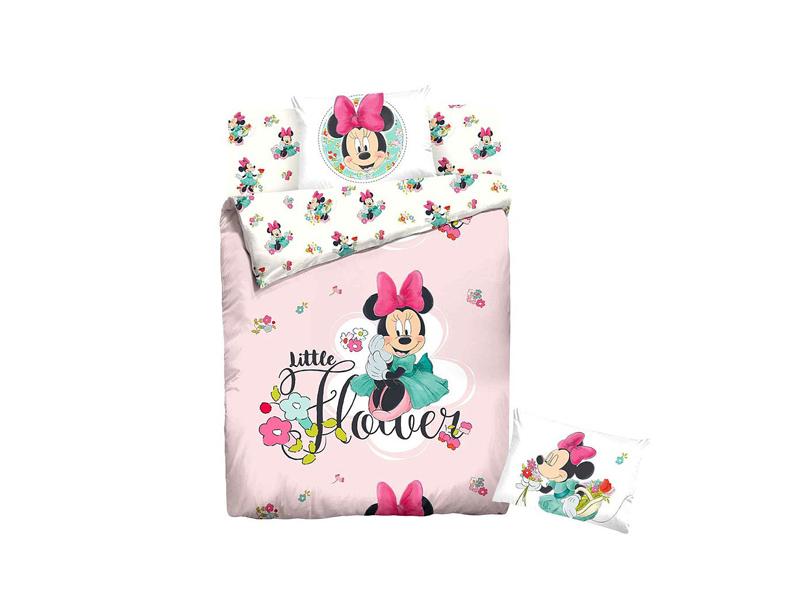 Постельное белье Disney Minnie Little Flower Комплект 1.5 спальный Ранфорс 707497