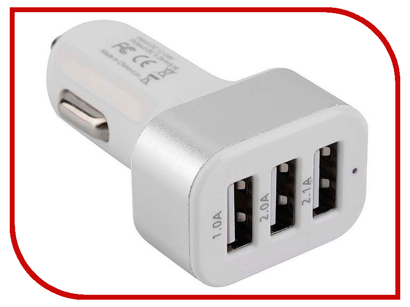 Зарядное устройство Gembird Cablexpert 3xUSB 2.1A MP3A-UC-CAR17 цена