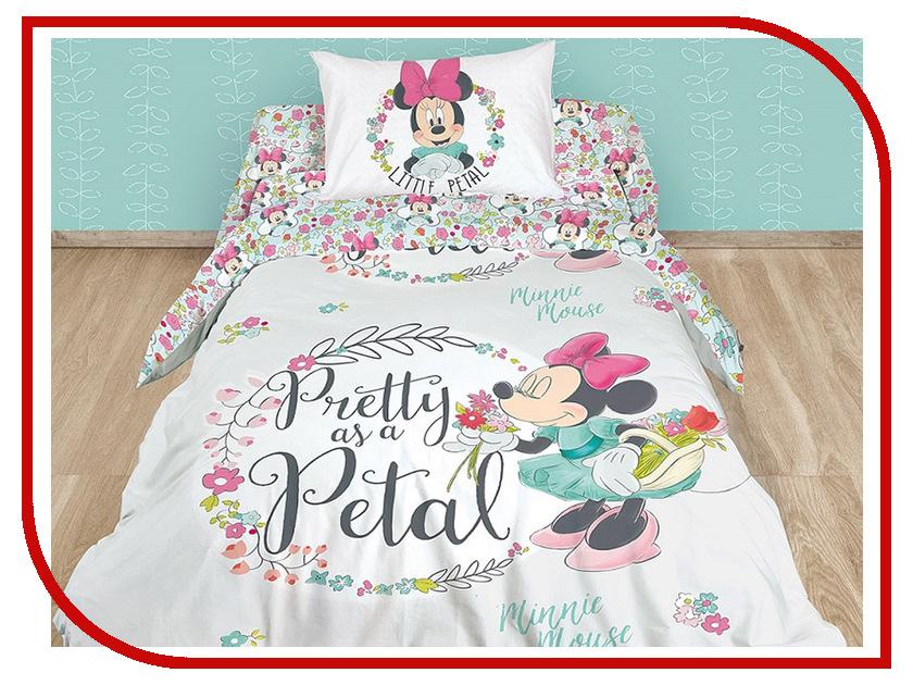 Постельное белье Disney Minnie Pretty As A Petal Комплект 1.5 спальный Ранфорс 712513 постельное белье disney bratzillaz witches blue page 7