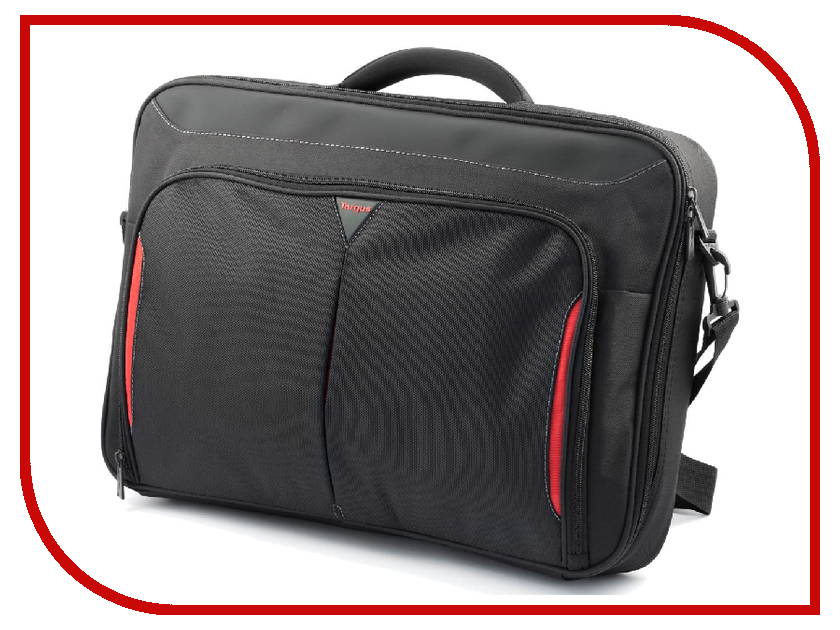 Аксессуар Сумка 18 Targus Classi+ CN418EU-70 Black-Red сумка для ноутбука targus classic clamshell cn418eu 70 black полистер до 18