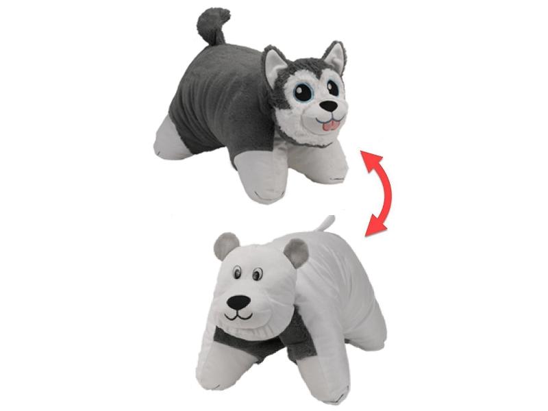 Игрушка 1Toy Вывернушка 2в1 Хаски - Полярный Медведь Т12043 цена в Москве и Питере